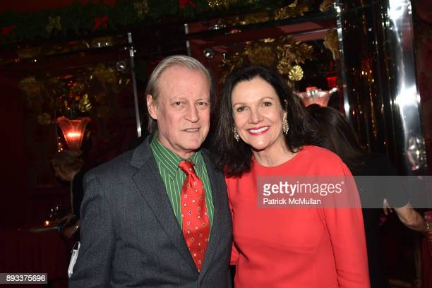 Patrick McMullan and Leslie Stevens attend A Christmas Cheer Holiday Party 2017 Hosted by George Farias Anne and Jay McInerney at The Doubles Club on...