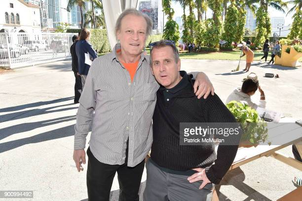 Patrick McMullan and Paul Austin attend NADA Art Fair at Ice Palace Studios on December 10 2017 in Miami Florida