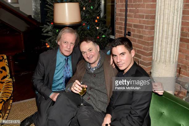 Patrick McMullan George Gurley and Erik Maza attend Ken Fulk's 'OldFashioned TequilaFueled Holiday Party' at Ken Fulk Tribeca on December 13 2017 in...