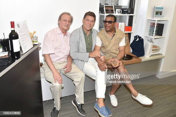 Patrick McMullan Greg Calejo and George Wayne attend Magrino First Look Preview 2018 at Magrino on July 16 2018 in New York City