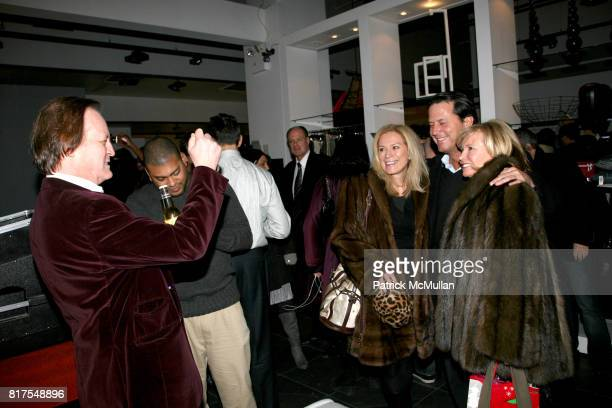 Patrick McMullan Karen Monroe David Fuselier and Sharon Bush attend 8th Annual BoCONCEPT/KOLDESIGN Holiday Party at Bo Concept Madison Ave on...