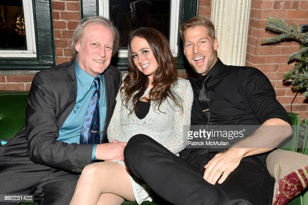 Patrick McMullan Kyla McCarthy and Todd Trofimuk attend Ken Fulk's 'OldFashioned TequilaFueled Holiday Party' at Ken Fulk Tribeca on December 13 2017...