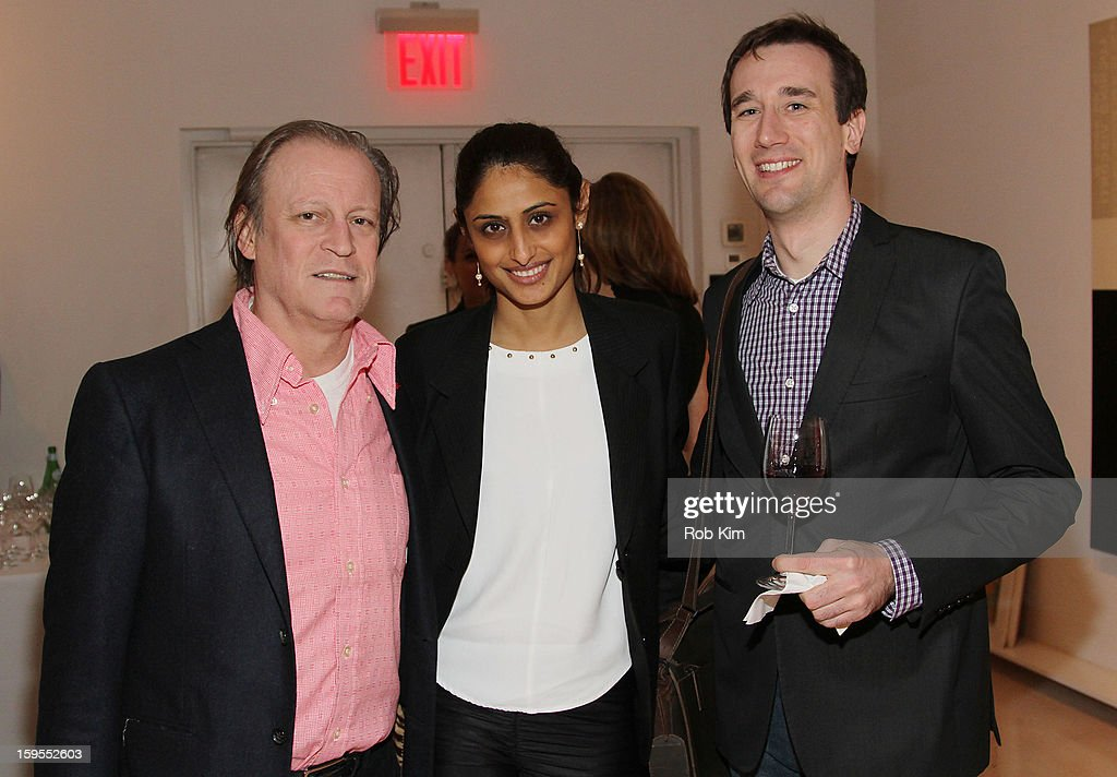 Patrick McMullan, Pinki Patel and Christof Belka attend An Intimate Evening With The Contemporary Patrons Of The Watermill Center at 210 East 5 Street on January 15, 2013 in New York City.
