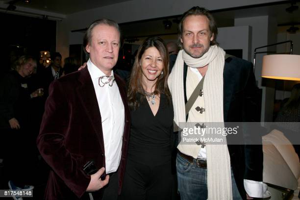 Patrick McMullan Sally Randall Brunger and Andrew Brunger attend 8th Annual BoCONCEPT/KOLDESIGN Holiday Party at Bo Concept Madison Ave on December...