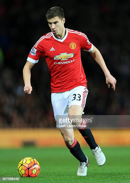 Patrick McNair of Man Utd in action during the Barclays Premier League match between Manchester United and Southampton at Old Trafford on January 23...