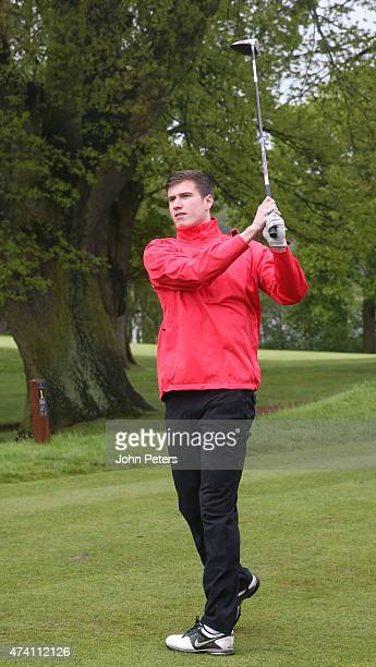 Patrick McNair of Manchester United takes part in the annual Manchester United golf day at Mere Golf Club on May 20 2015 in Knutsford England