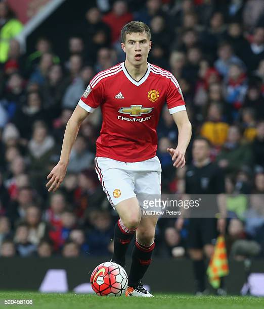 Patrick McNair of Manchester United U21s in action during the Barclays U21 Premier League match between Manchester United U21s and Middlesbrough U21s...