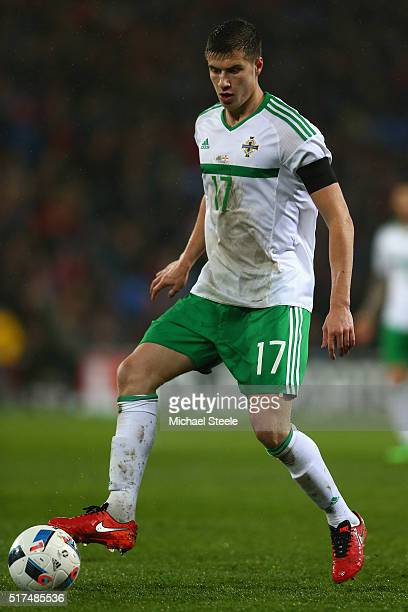 Patrick McNair of Northern Ireland during the International Friendly match between Wales and Northern Ireland at Cardiff City Stadium on March 24...