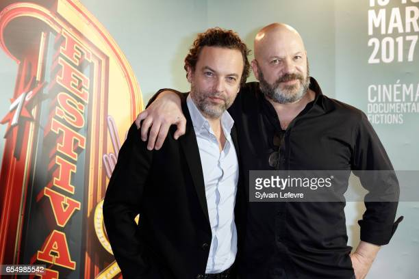 Patrick Mile and Joseph Malerba attend closing ceremony photocall of Valenciennes Cinema Festival on March 18 2017 in Valenciennes France