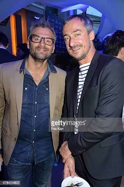 Patrick Mimoun and Sebastien Thoen attend the 'Hublot Blue' cocktail party At Monsieur Bleu Palais De Tokyo on June 24 2015 in Paris France
