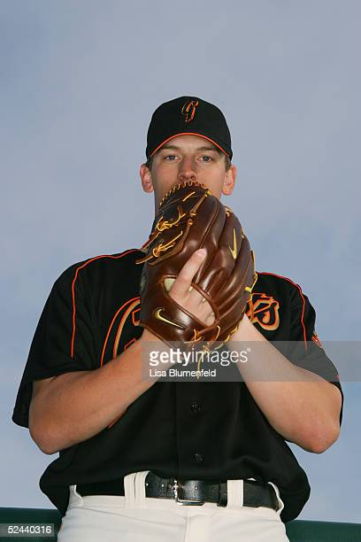 Patrick Misch of the San Francisco Giants poses for a portrait during the San Francisco Giants Photo Day at Scottsdale Stadium on March 2, 2005 in...