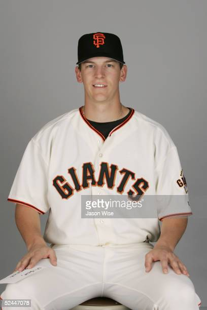Patrick Misch of the San Francisco Giants poses for a portrait during photo day at Scottsdale Stadium on March 2, 2005 in Scottsdale, Arizona.