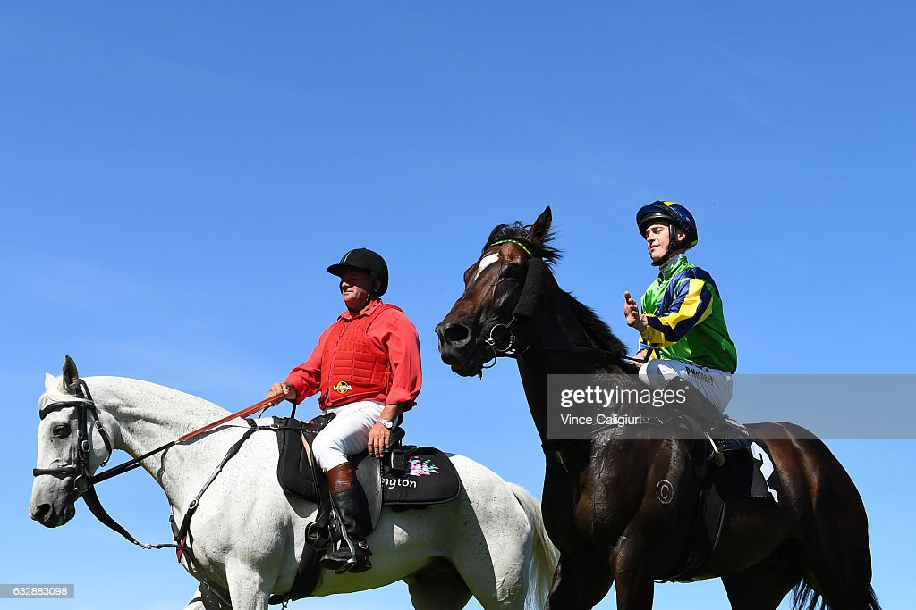 Patrick Moloney riding Tivaci after winning Race 7, Kensington Stakes during Melbourne Racing at Flemington Racecourse on January 28, 2017 in Melbourne, Australia.