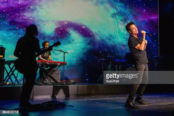 Patrick Monahan of rock band Train performs at Norwegian Bliss christening event on board at Pier 66 on May 30 2018 in Seattle Washington