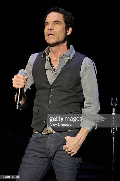 Patrick Monahan of the band Train performs on stage at HMV Hammersmith Apollo on May 3 2012 in London United Kingdom