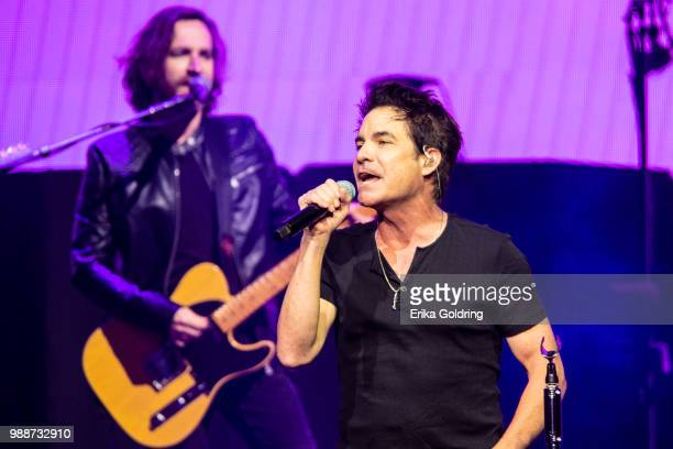Patrick Monahan of Train performs at Smoothie King Center on June 28 2018 in New Orleans Louisiana