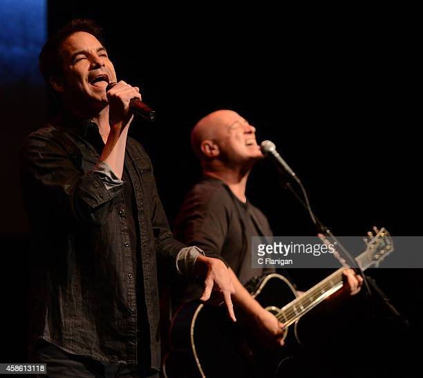Patrick Monahan of Train performs during the 2014 Live in the Vineyard Music Festival on November 7 2014 in Napa California