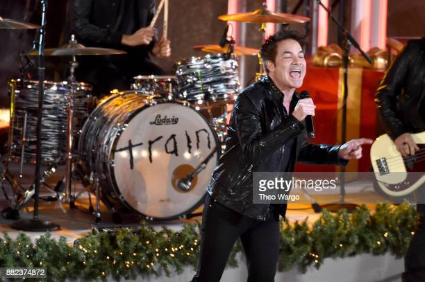 Patrick Monahan of Train performs onstage during the 85th Rockefeller Center Christmas Tree Lighting Ceremony at Rockefeller Center on November 29...