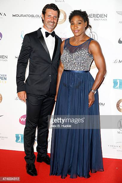 Patrick Mouratoglou and Serena Williams attend the Champ'Seed party on May 19 2015 in Monaco Monaco