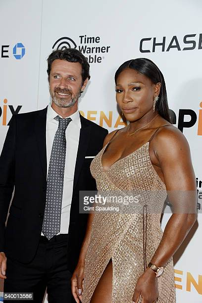 Patrick Mouratoglou and Serena Williams attend The Premiere of EPIX Original Documentary 'Serena' at SVA Theatre on June 13 2016 in New York City