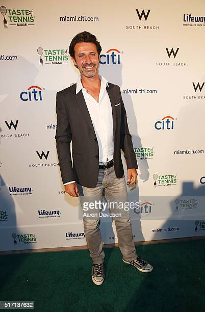 Patrick Mouratoglou attends Taste Of Tennis At W South Beach #TASTEOFTENNIS at W Hotel on March 21 2016 in Miami Florida