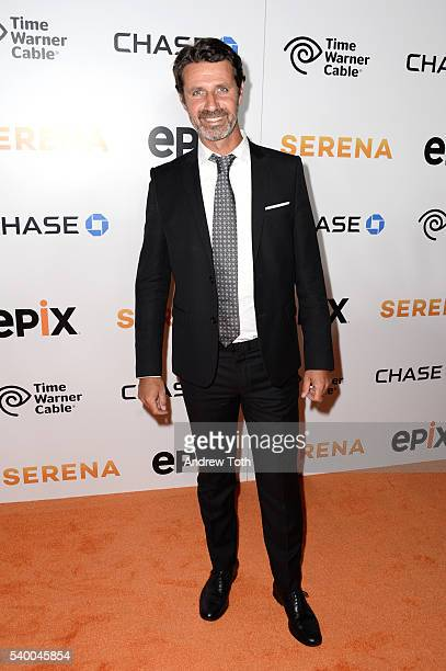 Patrick Mouratoglou attends the premiere of EPIX original documentary Serena at SVA Theater on June 13 2016 in New York City