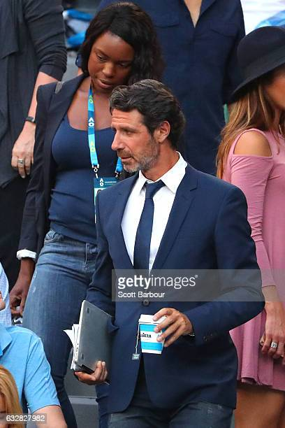 Patrick Mouratoglou attends the semifinal match between Rafael Nadal of Spain and Grigor Dimitrov of Bulgaria on day 12 of the 2017 Australian Open...