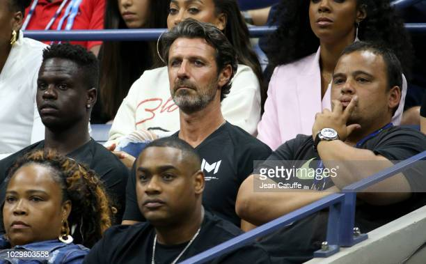 Patrick Mouratoglou coach of Serena Williams during the women's final on day 13 of the 2018 tennis US Open on Arthur Ashe stadium at the USTA Billie...