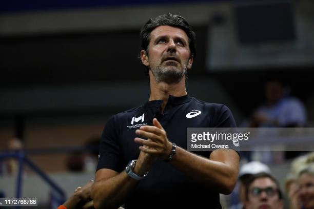 Patrick Mouratoglou during the Women's Singles semifinal match between Serena Williams of the United States and Elina Svitolina of the Ukraine on day...