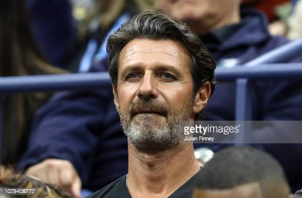 Patrick Mouratoglou looks on during the Women's Singles finals match between Serena Williams of the United States and Naomi Osaka of Japan on Day...