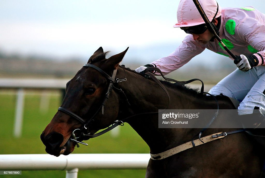 Patrick Mullins riding Getabird win The Fairyhouse Steel Supporting Meath GAA Flat Race at Fairyhouse racecourse on December 4, 2016 in Dublin.