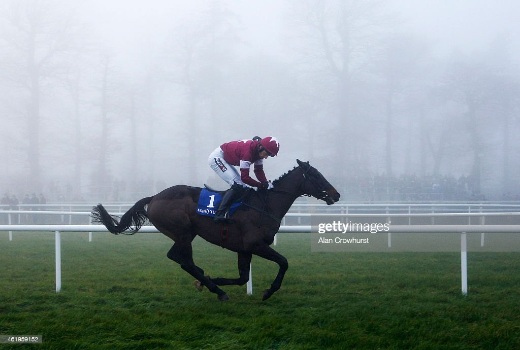 Patrick Mullins riding Stone Hard win The P J Foley Memorial INH Flat Race at Gowran Park racecourse on January 22, 2015 in Kilkenny, Ireland.