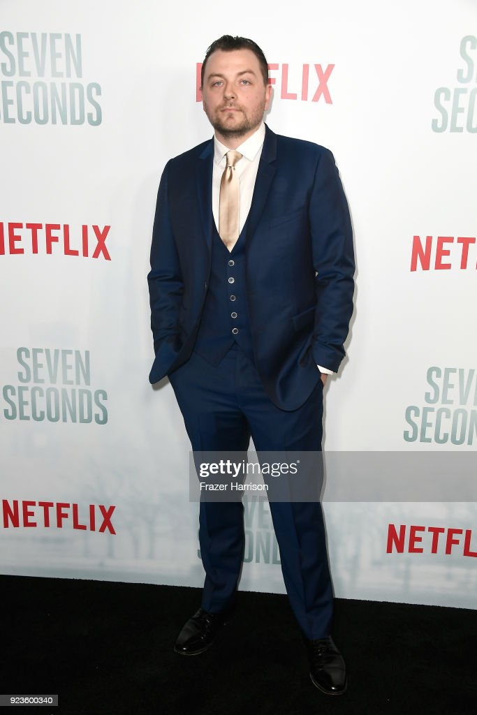 Patrick Murney attends the premiere of Netflix's 'Seven Seconds' at The Paley Center for Media on February 23, 2018 in Beverly Hills, California.