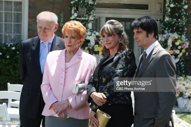 Patrick Murphy from left Katherine Chancellor Jill Fenmore and Phillip Chancellor attend the wedding of Victoria Newman and Billy Abbott THE YOUNG...