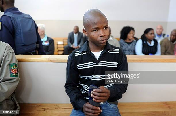 Patrick Ndlovu appears in court in connection with the murder of AWB Leader Eugene Terre'Blanche on August 20 2012 in Ventersdorp South Africa...