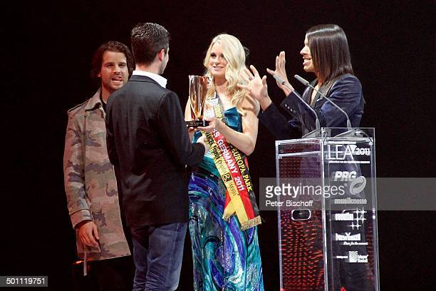 Patrick Nuo Preistrger AnneKathrin Kosch Jorge Gonzalez 6 GalaVerleihung 'Lea Award' 2011 als Auftakt zur 'Musikmesse' Festhalle Frankfurt Hessen...