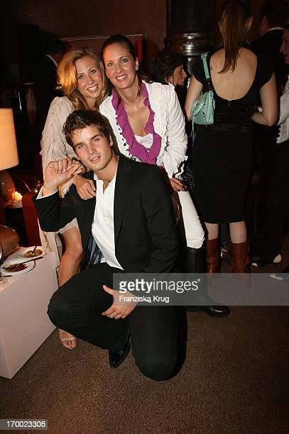 Patrick Nuo wife Molly Schade And Dana Schweiger at the Gala Private Lounge In The Brasserie The Bank in Hamburg