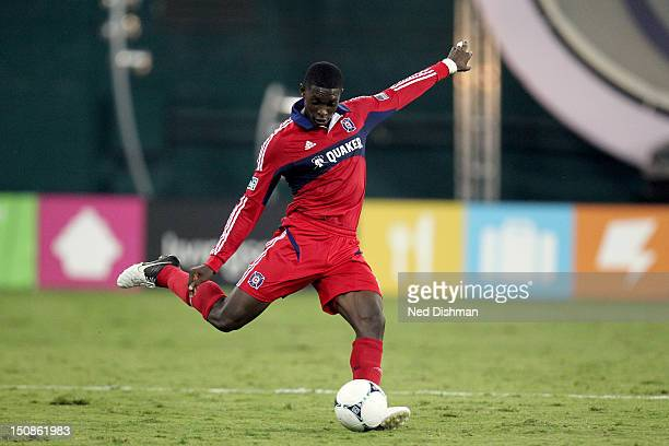 Patrick Nyarko of the Chicago Fire controls the ball against DC United at RFK Stadium on August 22 2012 in Washington DC DC United won 40
