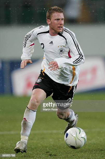 Patrick Ochs during the men's under 21 international friendly match between Germany and Latvia on February 28 2006 in Wolfsburg Germany