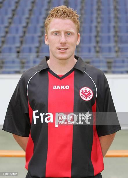 Patrick Ochs poses during the Bundesliga 1st Team Presentation of Eintracht Frankfurt at the Commerzbank Arena on July 14 2006 in Frankfurt Germany