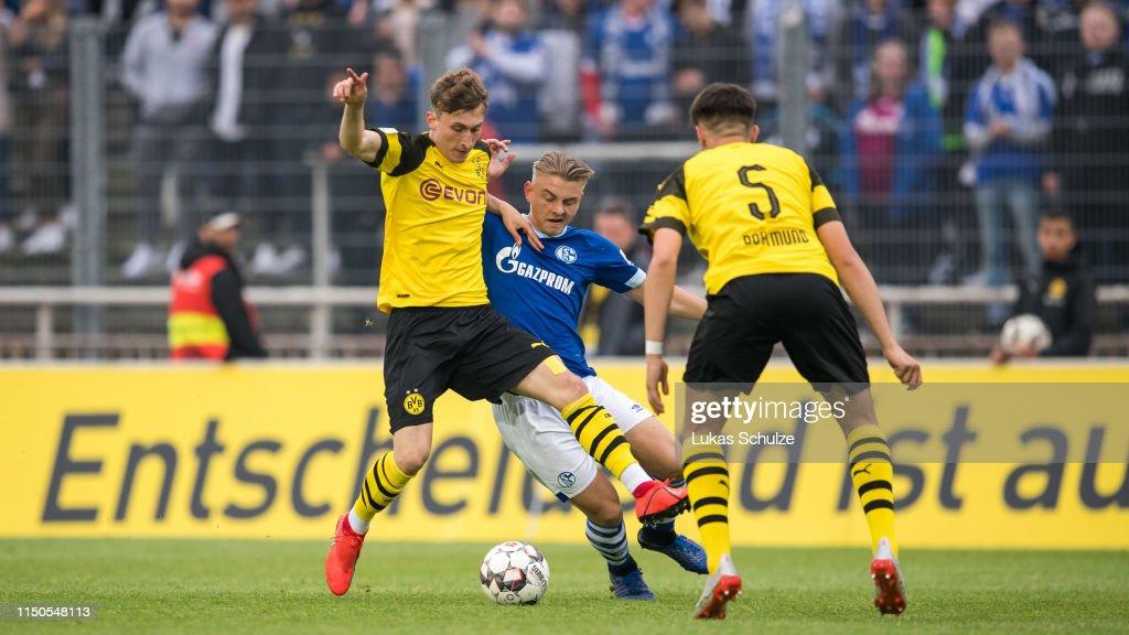 Borussia Dortmund U19 v FC Schalke 04 U19 - A-Juniors German Championship Semi Final Leg Two : News Photo