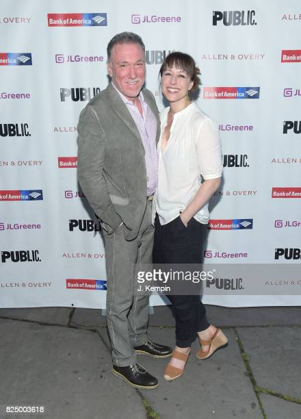 Patrick Page and Paige Davis attend 'A Midsummer Night's Dream' Opening Night at Delacorte Theater on July 31 2017 in New York City