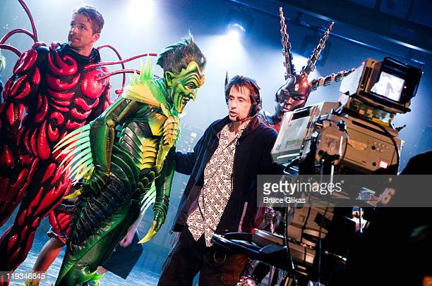 Patrick Page as The Green Goblin from the hit musical SpiderMan performs as he visits The Late Show with David Letterman at The Ed Sullivan Theater...