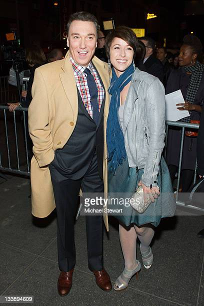 Patrick Paige and actress Paige Davis attend An Evening with Patti Lupone and Mandy Patinkin Broadway opening night at the Ethel Barrymore Theatre on...