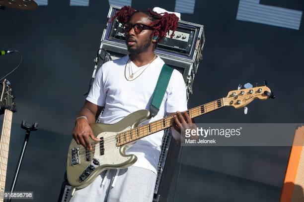 Patrick Paige II from The Internet performs on stage at St Jerome's Laneway Festival on February 11 2018 in Fremantle Australia