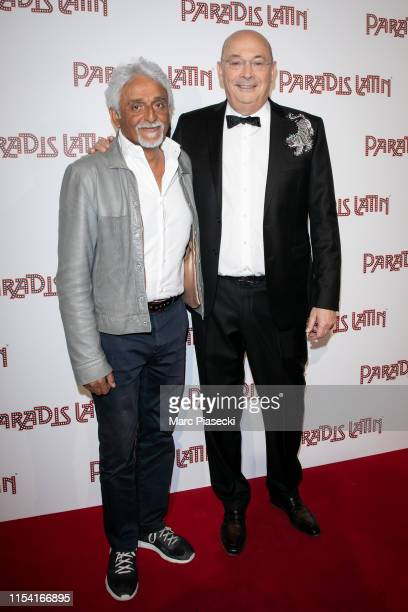 Patrick Partouche and Walter Butler attend the L'Oiseau Paradis show at Le Paradis Latin on June 06 2019 in Paris France