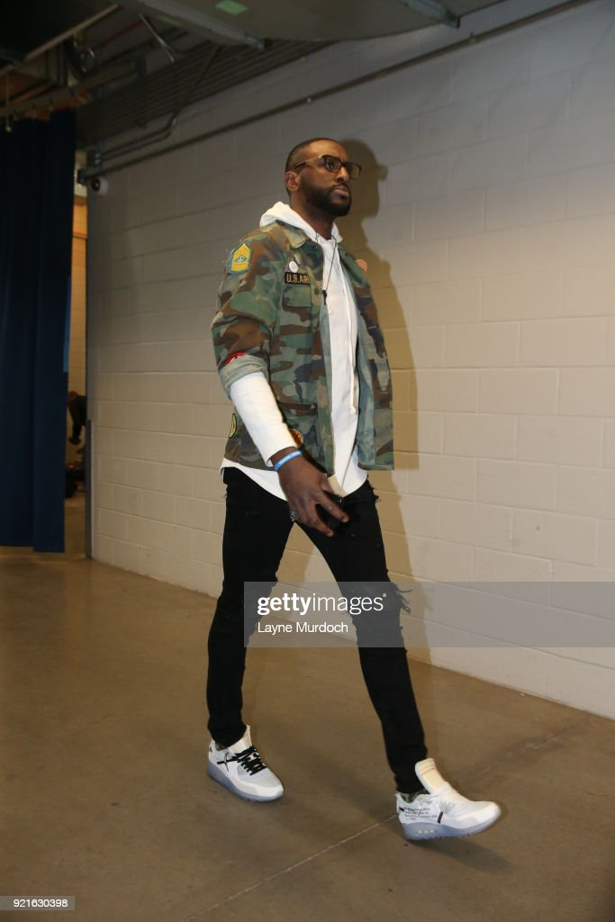 Patrick Patterson #54 of the Oklahoma City Thunder enters the arena before the game against the Cleveland Cavaliers on February 13, 2018 at Chesapeake Energy Arena in Oklahoma City, Oklahoma.