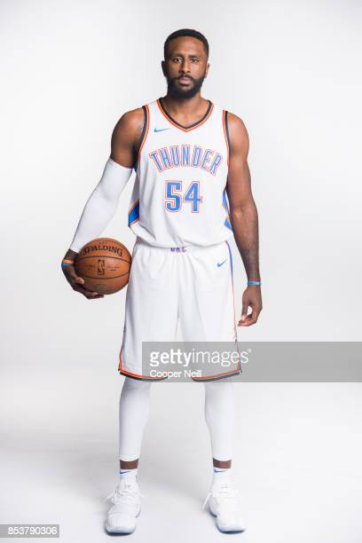 Patrick Patterson of the Oklahoma City Thunder poses for a photo during media day at Chesapeake Energy Arena on September 25 2017 in Oklahoma City...