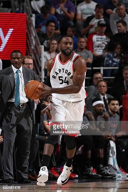 Patrick Patterson of the Toronto Raptors handles the ball against the Utah Jazz on December 23 2016 at vivintSmartHome Arena in Salt Lake City Utah...