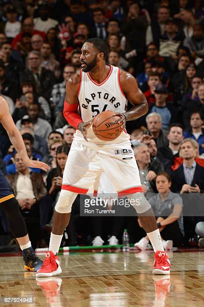Patrick Patterson of the Toronto Raptors handles the ball during a game against the Cleveland Cavaliers on December 5 2016 at the Air Canada Centre...